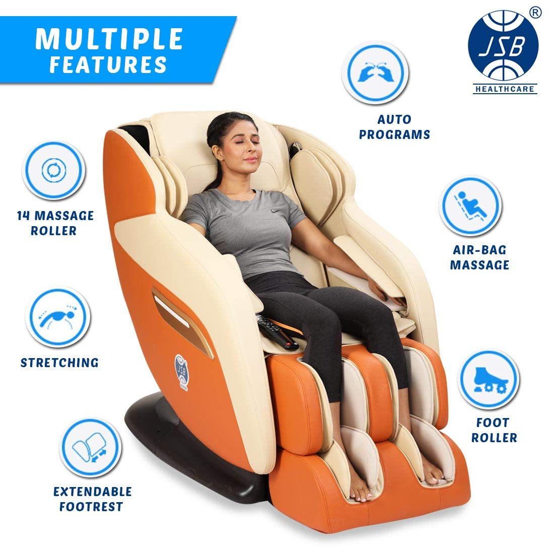 JSB MZ19 Full Body Massage Chair for Home and Office (with 58% 0FF Limited Offer on Amazon) 6