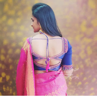 Best and Unique Silk Saree Blouse Design to help you to stand out 2