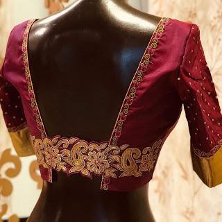 Belt It Out Pattu Saree Blouse Designs