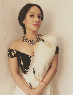 Off Shoulder Saree Blouse Design