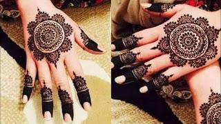 Floral Back Hand Mehndi Design