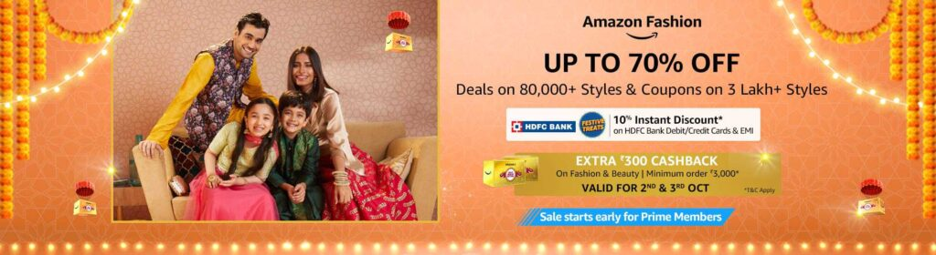 Amazon Great Indian Festival Sale Start in India 2021 UP to 50 to 80% OFF 54